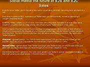Social media the future of B2B and B2C Sales