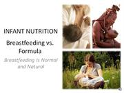 Infant nutrition: Breastfeeding vs. formula