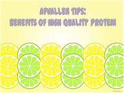 Afvallen Tips: Benefits of High Quality Protein