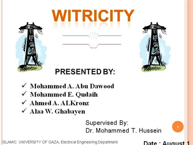 Witricity Abstract Pdf