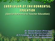 curriculum of environmental edu.