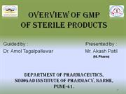 GMP of sterile products