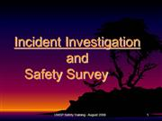 Incident Investigation and Safety Survey