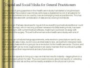Digital and Social Media for General Practitioners