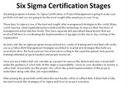 Six Sigma Certification Stages
