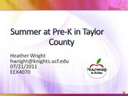 Summer at Pre-K in Taylor14