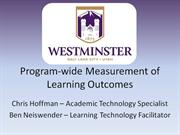 program-wide measurement of learning outcomes