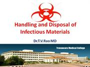 Handling and disposal of infectious Waste materials