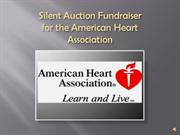 Silent Auctions Fundraising Gala for the AHA presentation