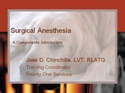 Anesthesia-Components-Introduction