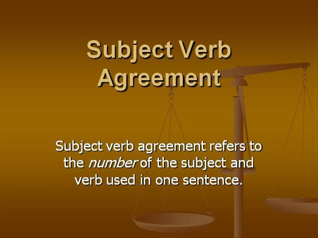 Subject Verb Agreement Authorstream