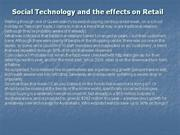 Social Technology and the effects on Retail
