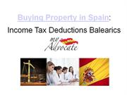 Income Tax Deductions on Property in Balearic Islands