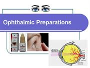 Ophthalmic Preparations2