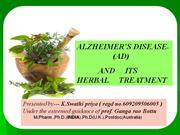 Alzheimer's disease and its herbal treatment
