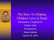Helping Children Love to Read.ppt