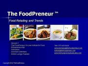 FP On Line Session 1 Food Retailing - A Primer Part 1