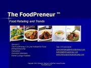 FP On Line Session 2 Food Retailing - Trends and ADTV Part 2