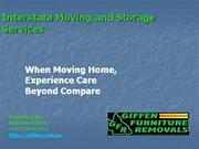 Interstate Moving and Storage Services