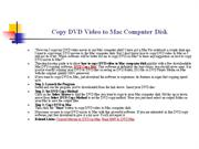 Copy DVD Video to Mac Computer Disk