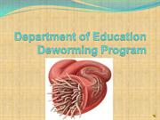 Department of Education Deworming Program powerpoint