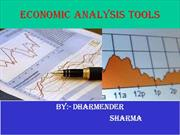 Economic Analysis  tools