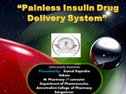 Painless Insulin Drug Delivery System