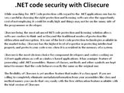 NET code security with Clisecure