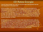 CD Rates Georgia