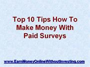 how to make money with paid surveys