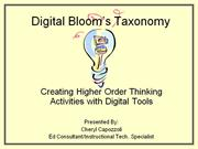 Digital Bloom's Taxonomy