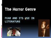 Fear and its Use in Literature
