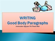 Paragraph writing for TOEFL