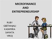 Microfinance and Microentrepreneurship