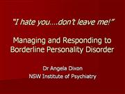 Borderline personality disorder IOP
