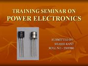 TRAINING SEMINAR ON POWER ELECTRONICS