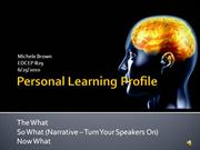 MBrown Personal Learning Profile