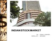INDIAN STOCK MARKET (V K B)