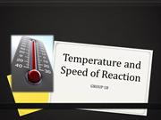 Temperature and Speed of Reaction(Group 1B)