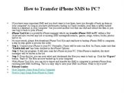 How to Transfer iPhone SMS to PC