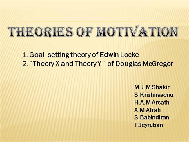 goal setting theory authorstream