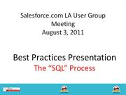 SFDC User Group - SQL Process Preso