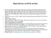 Burn movies to dvd on mac