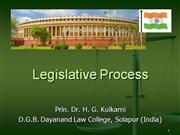 Legislative Process in India