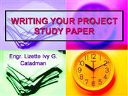 PROJECT STUDY: TECHNICAL WRITING
