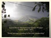 RSCJ Servant Leadership Program