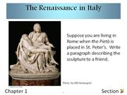 1-1 The Renaissance in Italy
