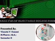 seminar injectable dosage form
