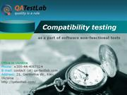 compatibility testing as a part of software non-functional tests
