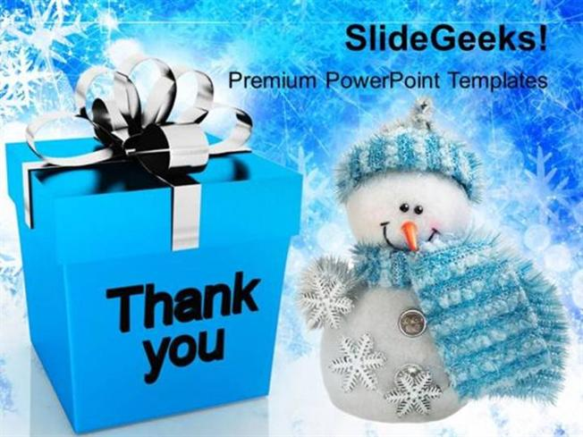 Christian Thank You Christmas Presents Festival Ppt Template